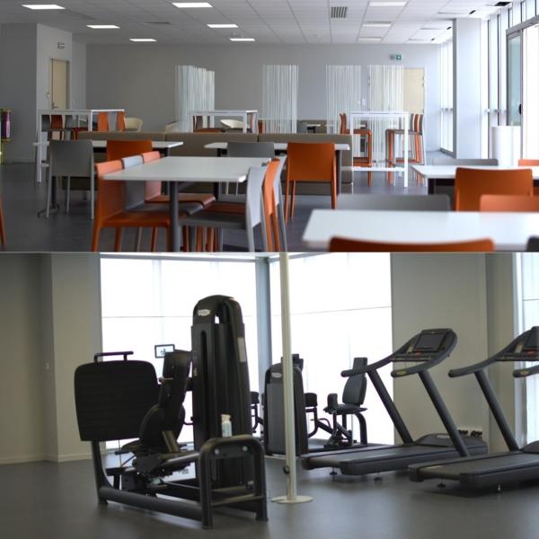salles de sport et de restauration