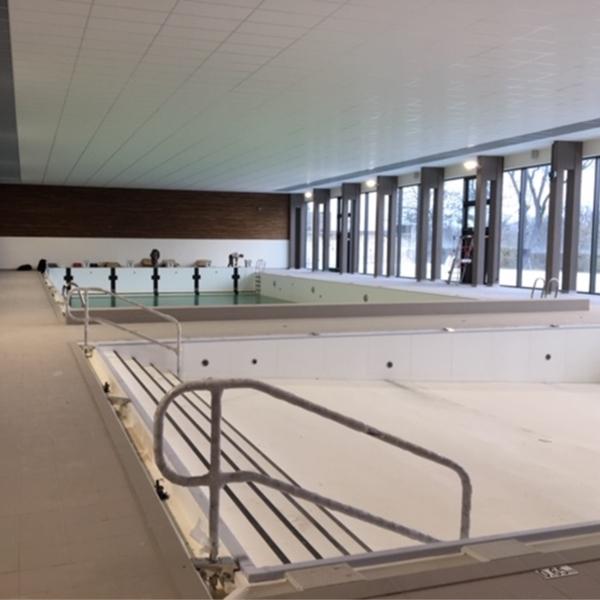 Bassins intérieurs en cours de réalisation