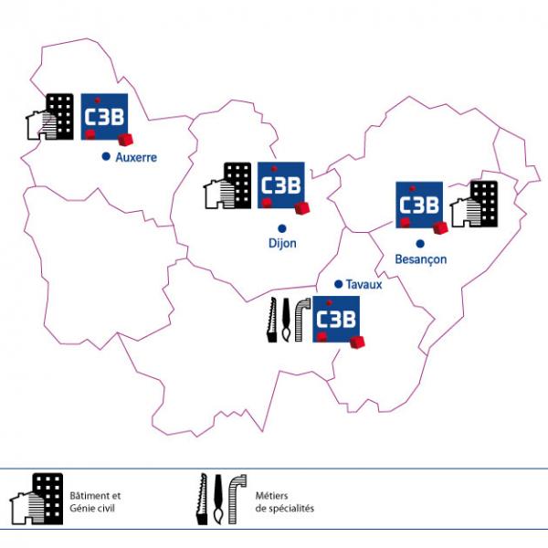 Implantation C3B en Bourgogne Franche Comté