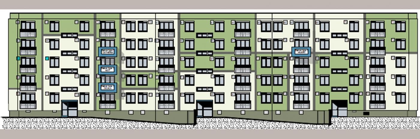 Projet façades Réhabilitation énergétique Copropriété Bellevue